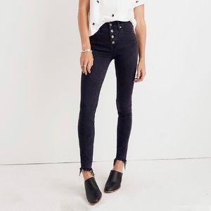 "Madewell 9"" High Rise Skinny Raw Hem Jeans"